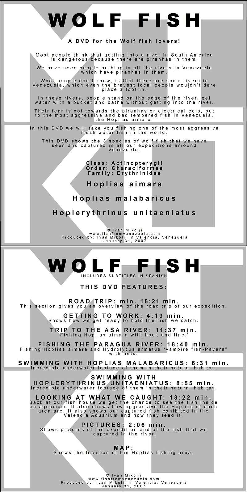 WOLF FISH DVD COVERS
